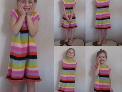 Rankdarbiai vaikams: vaivorykštinė suknelė