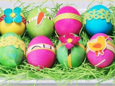 Idėja namams: dešimt ryškiaspalvių kiaušinių
