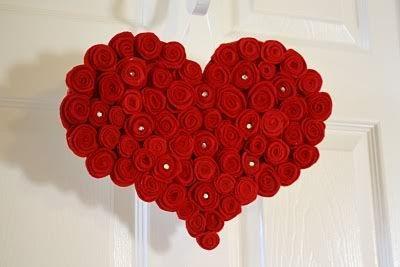 Veltų rožių širdelė