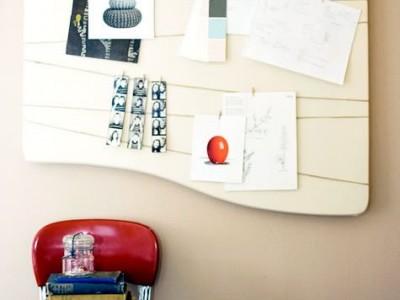 Idėja namams: lenta – užrašų kabykla