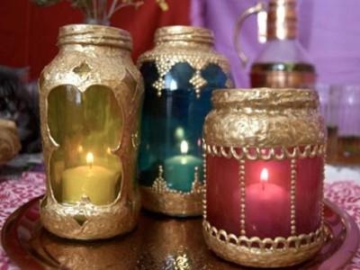 Idėja namams: marokietiški šviestuvėliai iš stiklainių