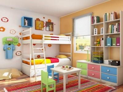 Vaiko kambario spalvos, baldai ir detalės