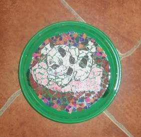 Mozaika papuošta lėkštė