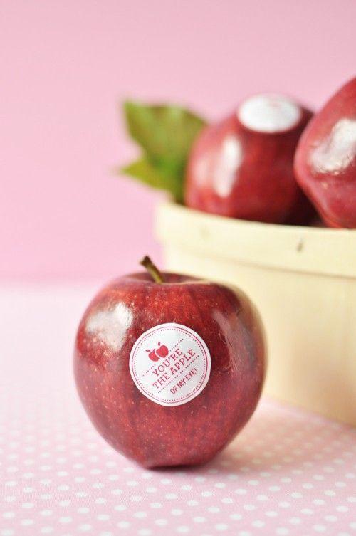 Dovanos idėja: lipdukai vaisiams