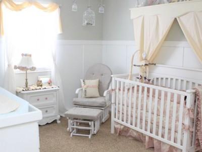 Idėja namams: švelniai romantiškas mergytės kambarys