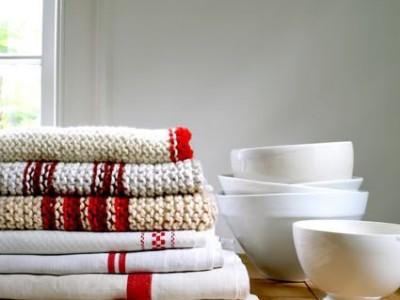 Idėja namams: megzti medvilniniai rankšluosčiai