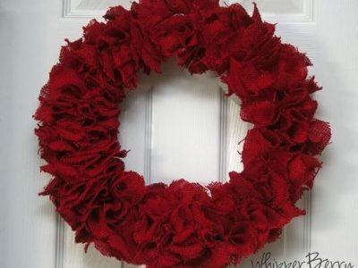 Raudonas vainikas Valentino dienai