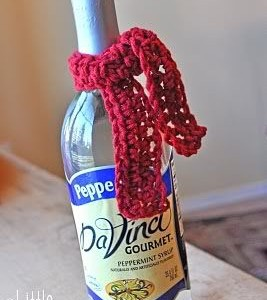 Labai greita kalėdinės dovanos idėja – šalikas buteliui