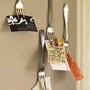 Idėja namams: šakutės – laikikliai