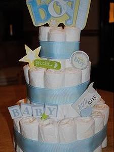 Dovanos idėja: sauskelnių tortas