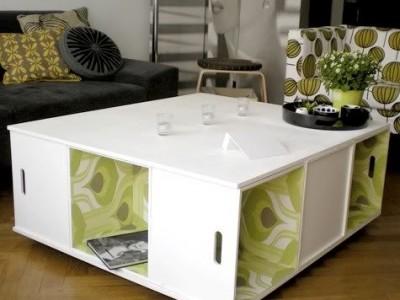 Idėja namams: kavos staliukas iš dėžių