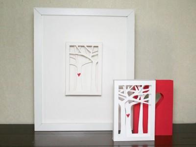 Idėja Valentino dienai: trimatis atvirukas