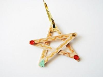 Idėja namams: žvaigždė iš ledų pagaliukų