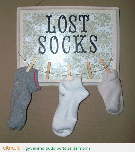 Kojinės palaidūnės: kaip neleisti joms pasimesti skalbimo metu