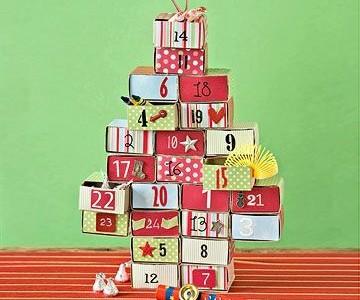 Idėja Kalėdoms: Advento kalendorius – eglutė