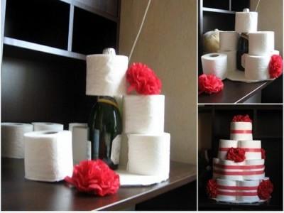 Vestuvių metinėms popierinis tortas [Linksmos dovanos]