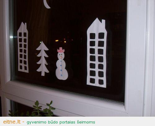 Kaip papuošti langus Kalėdoms?
