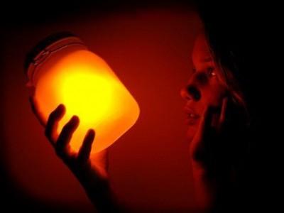 Originalus šviestuvas namams – Saulės stiklainis
