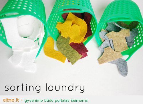 Gaminame žaislus: skalbinių krepšiai
