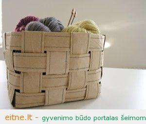 Rankdarbio idėja: krepšys iš popieriaus