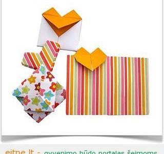 Origami vokai Valentino dienai