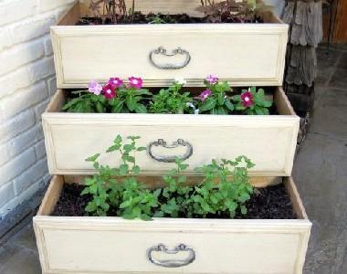 Mažoji sodininkystė: komodos stalčiai-vazonai