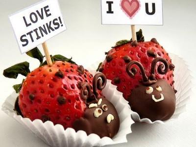Spalvingi užkandžiai Valentino dienai