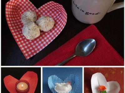 Idėja Valentino dienai: origami širdelė – indas