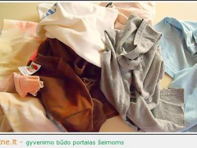 Kur dėti nebenešiojamus marškinėlius?