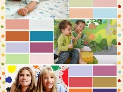 Vaikų kambario spalvos. Nuo gimimo iki 16 metų