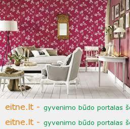 Gėlių ornamentika interjere