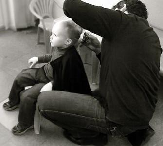 Vaikų plaukų kirpimas