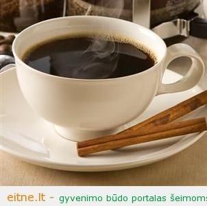 Cinamonas vietoj cukraus kavoje