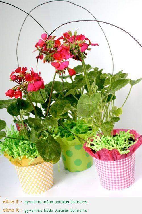 Darbeliai su vaikais: krepšelis gėlėms