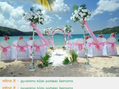 Vestuvės ant jūros kranto