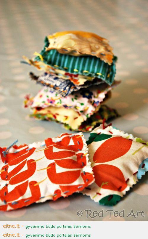 Siuvame su vaikais: levandų maišeliai