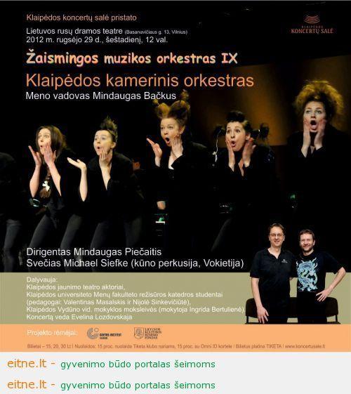 Klaipėdos koncertų salė: Žaismingos muzikos orkestras važiuoja į Vilnių!