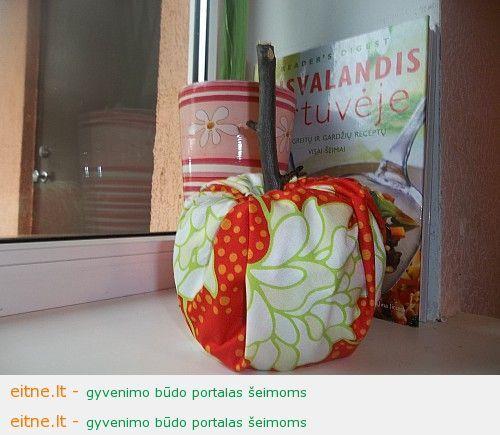 Gaminame rudenines dekoracijas: moliūgėlis