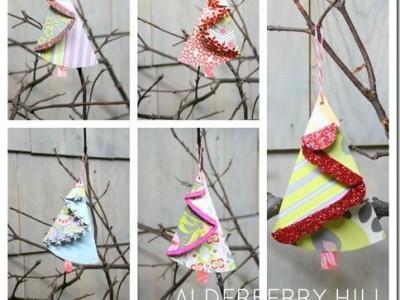 Idėja Kalėdoms: popierinė eglutė