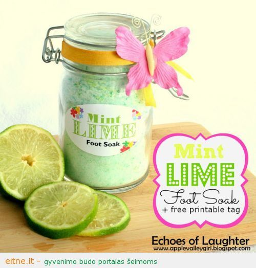 Mint Lime Foot Soak