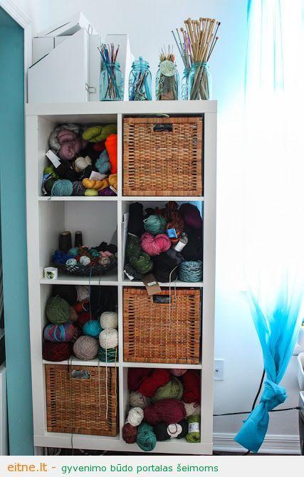 cubes storage yarn baskets