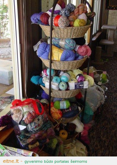 tiered basket storage yarn