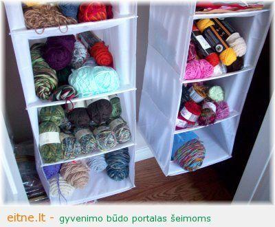 yarn storage shoe hanging