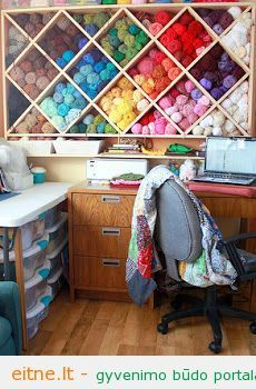 yarn storage wall
