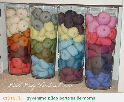 yarn vase storage