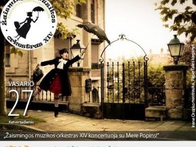 """Žaismingos muzikos orkestras XIV"": koncertas Klaipėdoje su Mere Popins!"