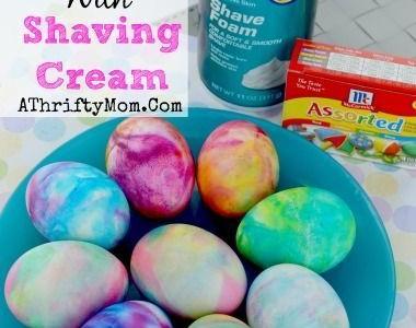 Kiaušinių dažymas skutimosi putomis