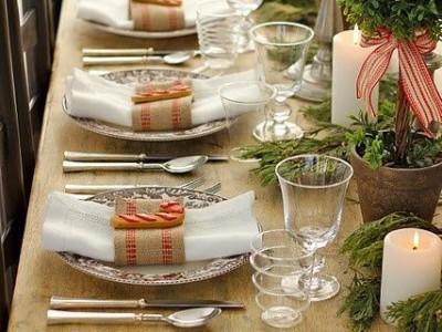 Kalėdinės dekoracijos (III): stalo serviravimas