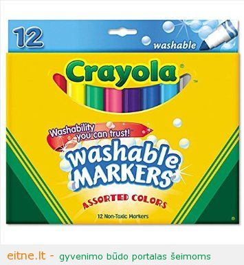 12 count thick washable markers assorted