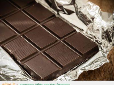 Kodėl juodas šokoladas geriau už pienišką?